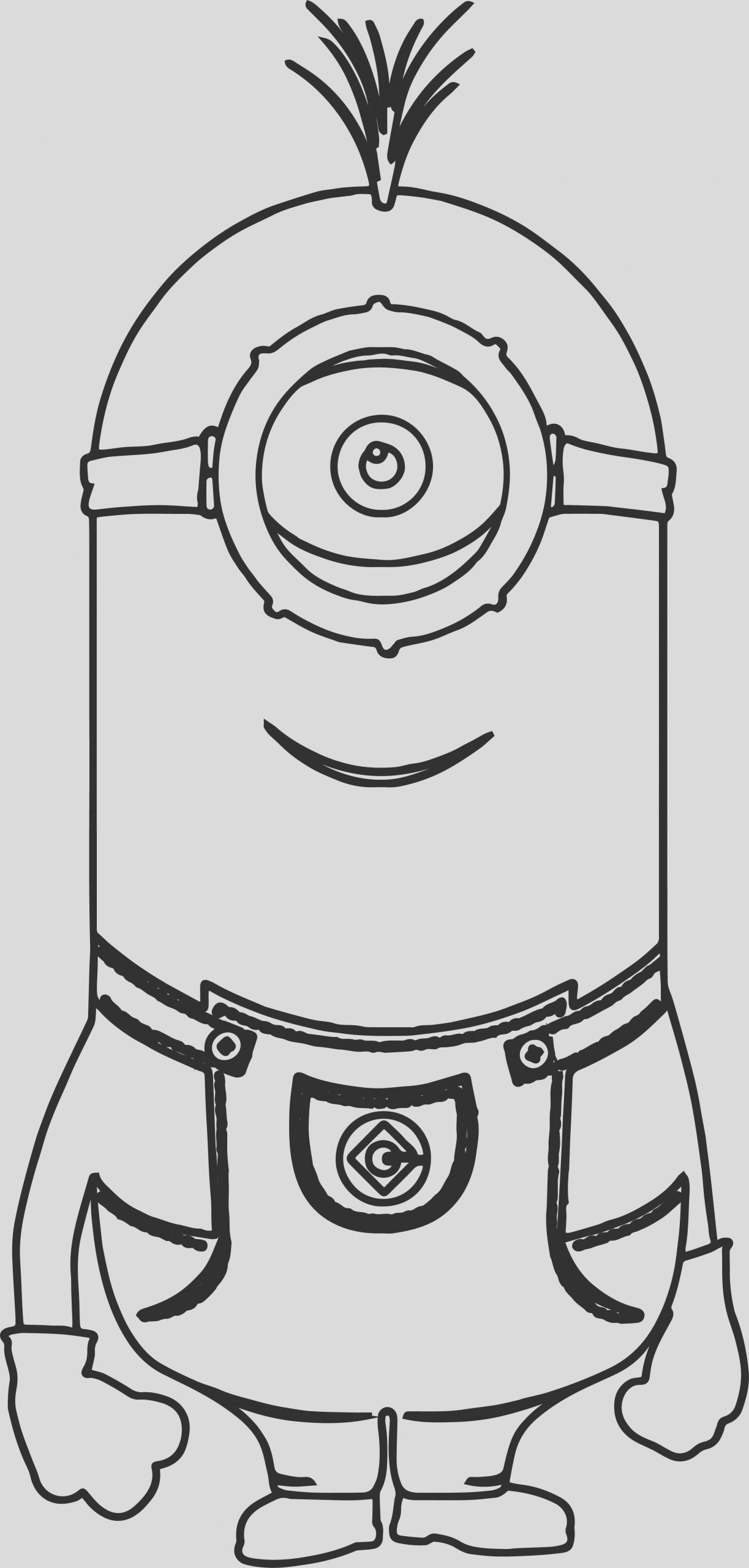 cute kevin minions coloring page