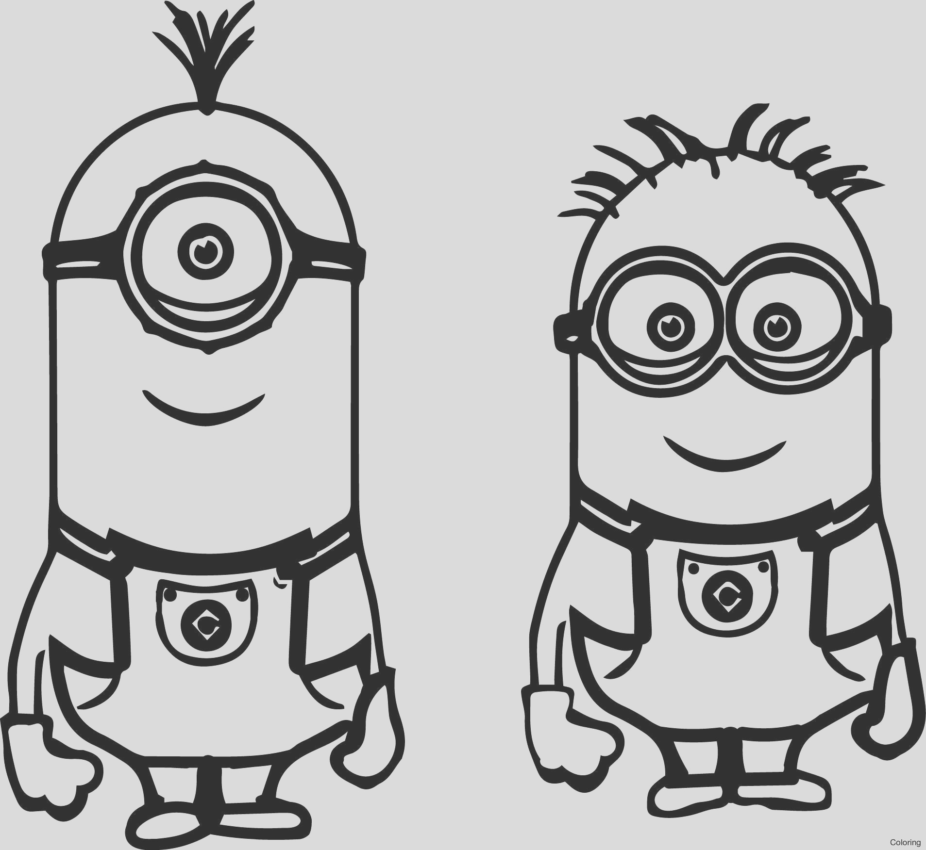 coloring pages minions