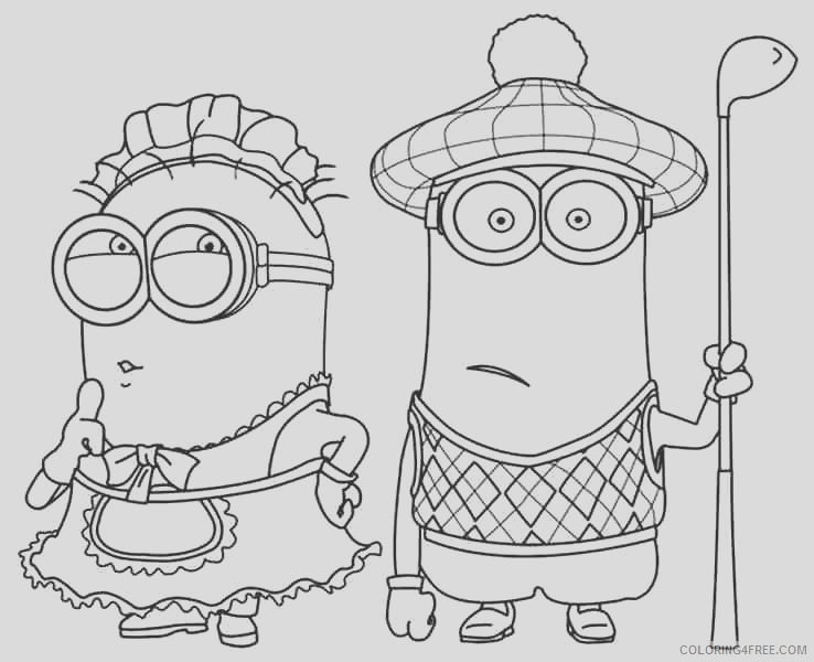 minion kevin coloring pages