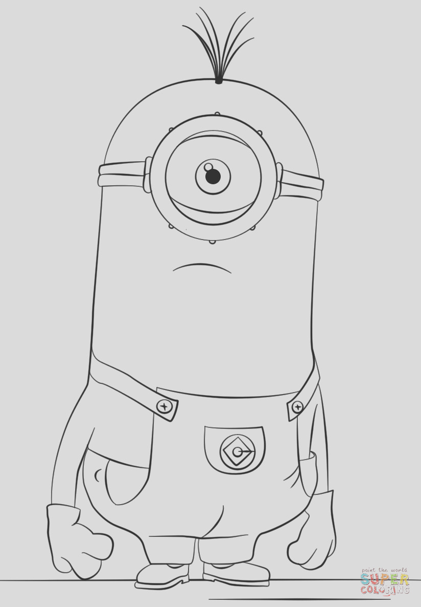 kevin the minion drawing