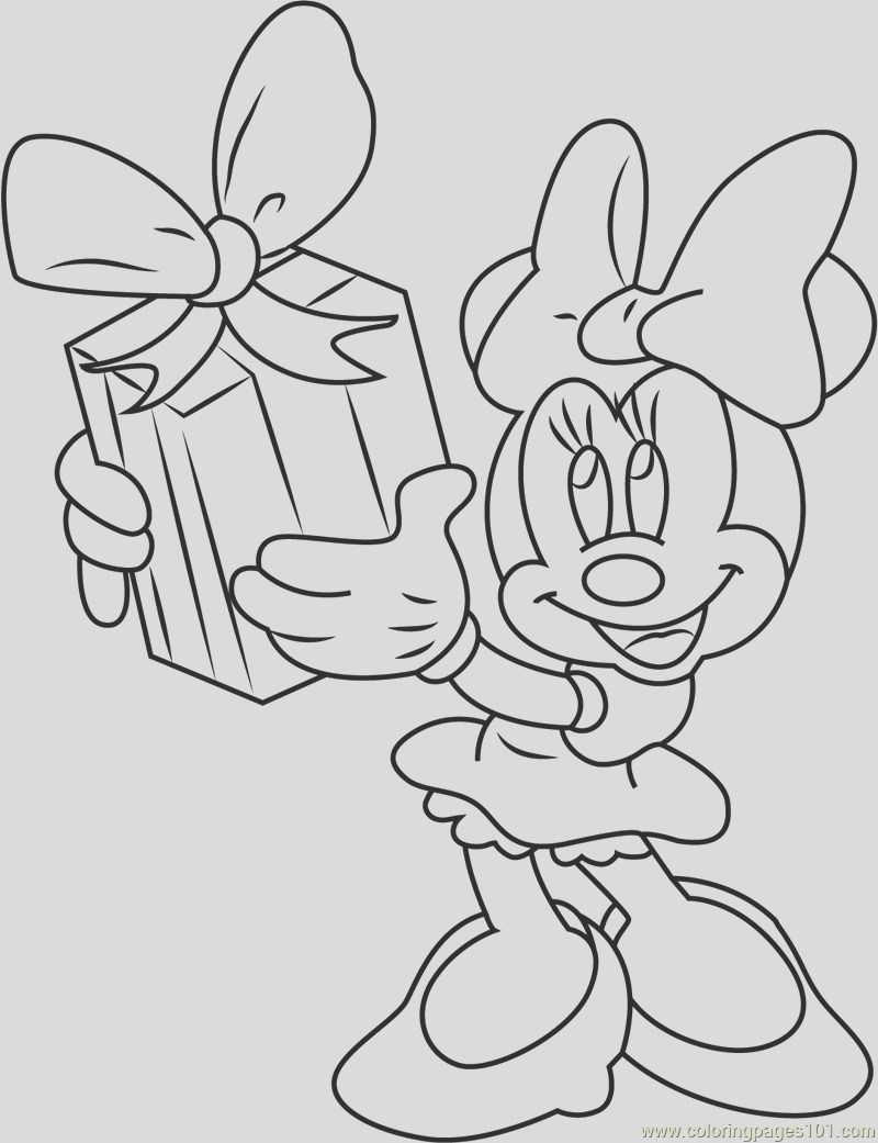 minnie mouse taking t coloring page