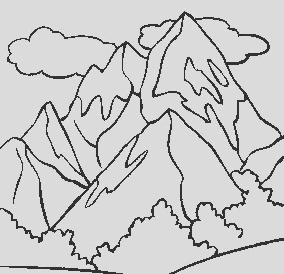 mountain top coloring page