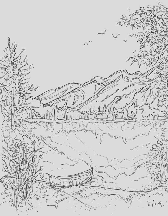 mountains coloring pages