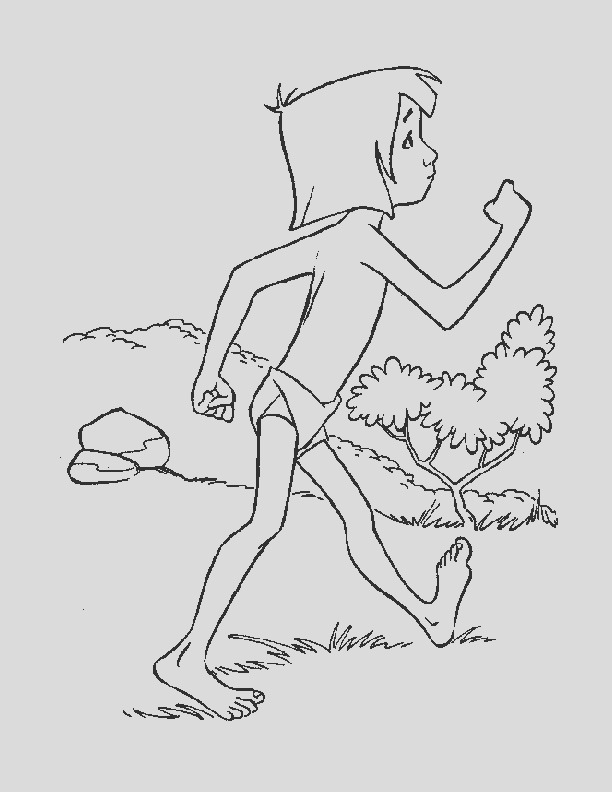 mowgli coloring pages sketch templates