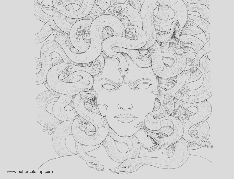 mythomorphia coloring pages gorgon