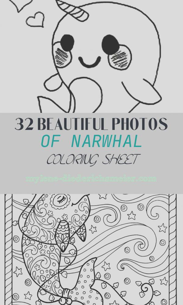 Narwhal Coloring Sheet Unique Get This Printable Narwhal Coloring Pages Line