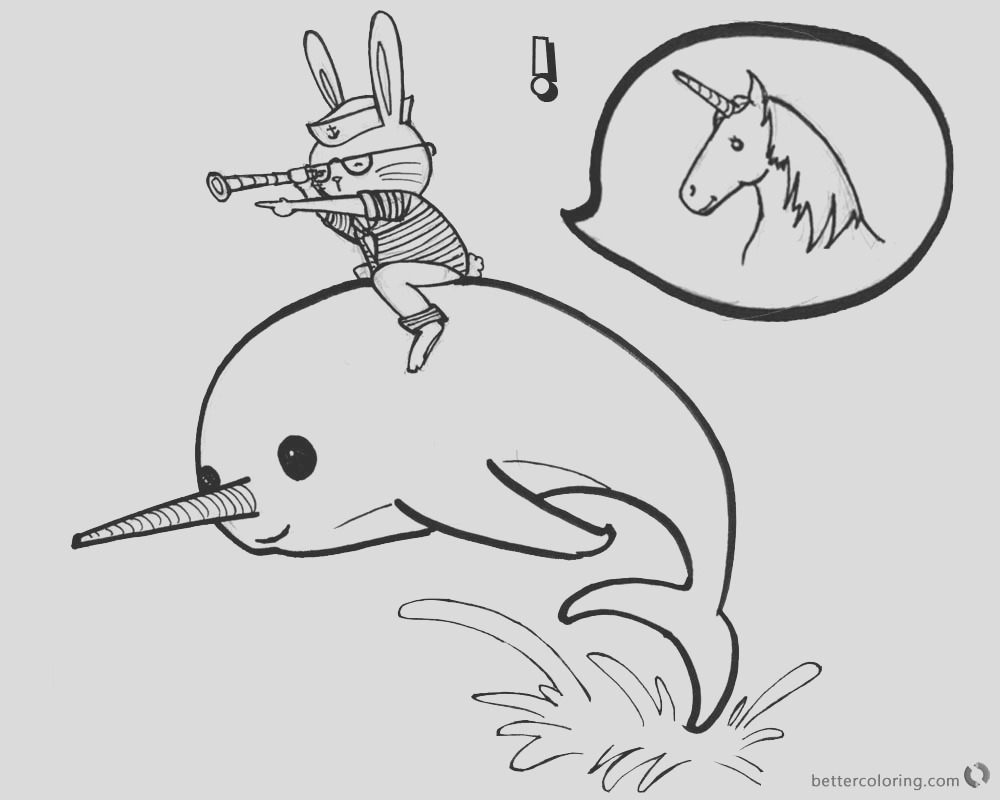 narwhal coloring pages cat ride on a narwhal