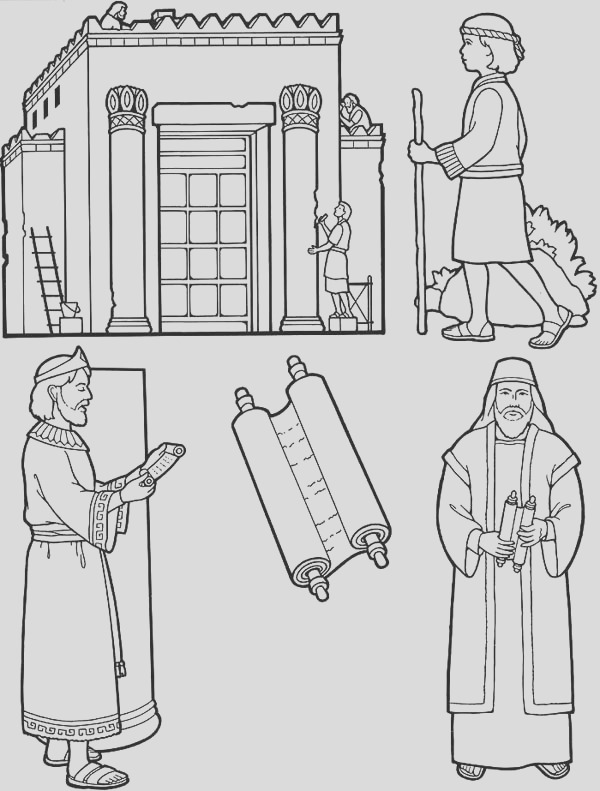 king nebuchadnezzar build the city coloring pages 2