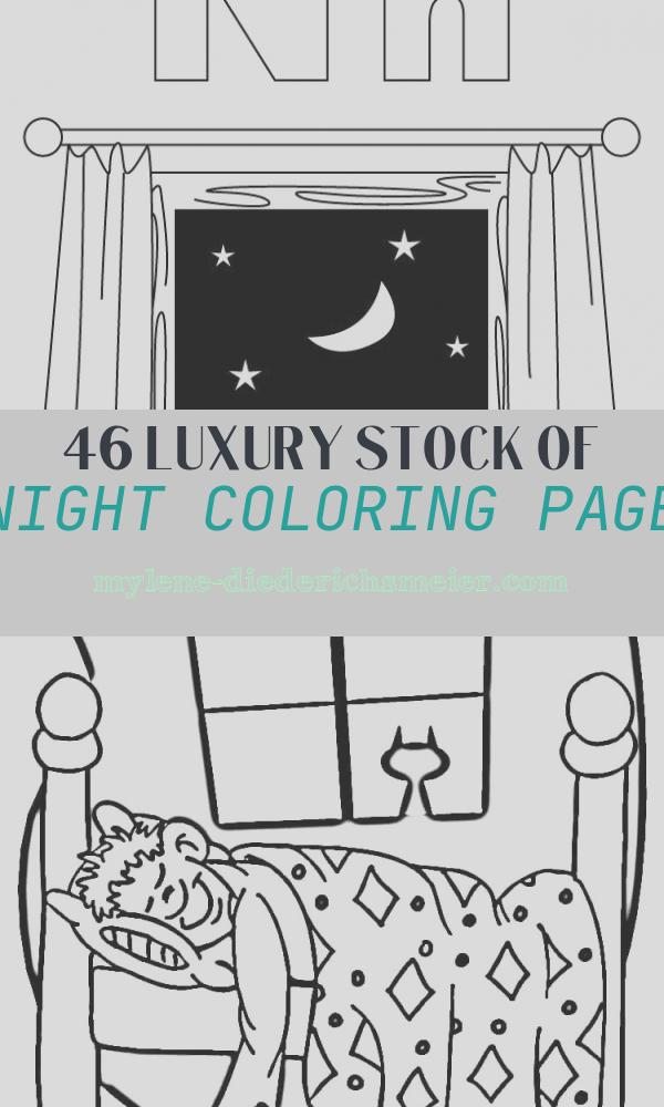 Night Coloring Page Beautiful N for Night Coloring Page with Handwriting Practice