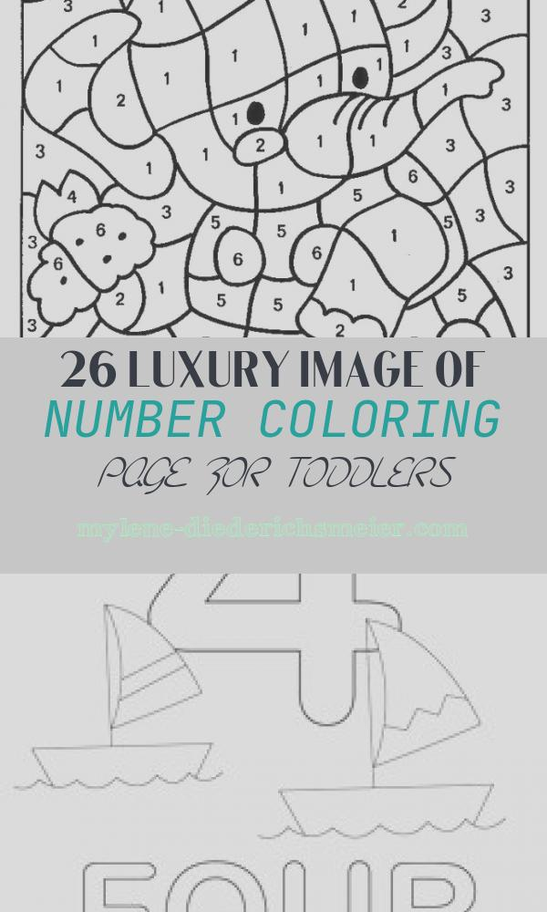 Number Coloring Page for toddlers Beautiful Free Printable Color by Number Coloring Pages Best