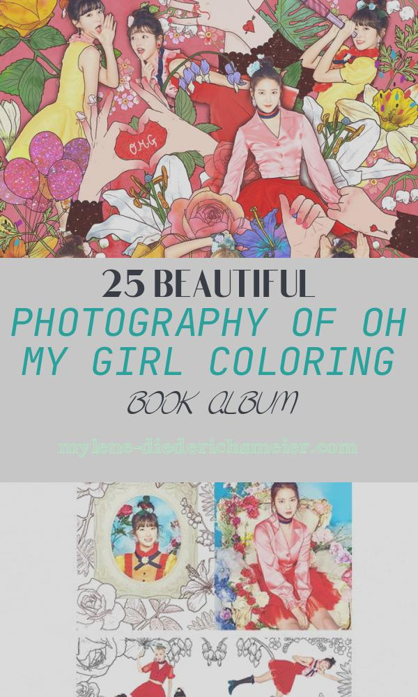Oh My Girl Coloring Book Album New Oh My Girl – Coloring Book 4th Mini Album