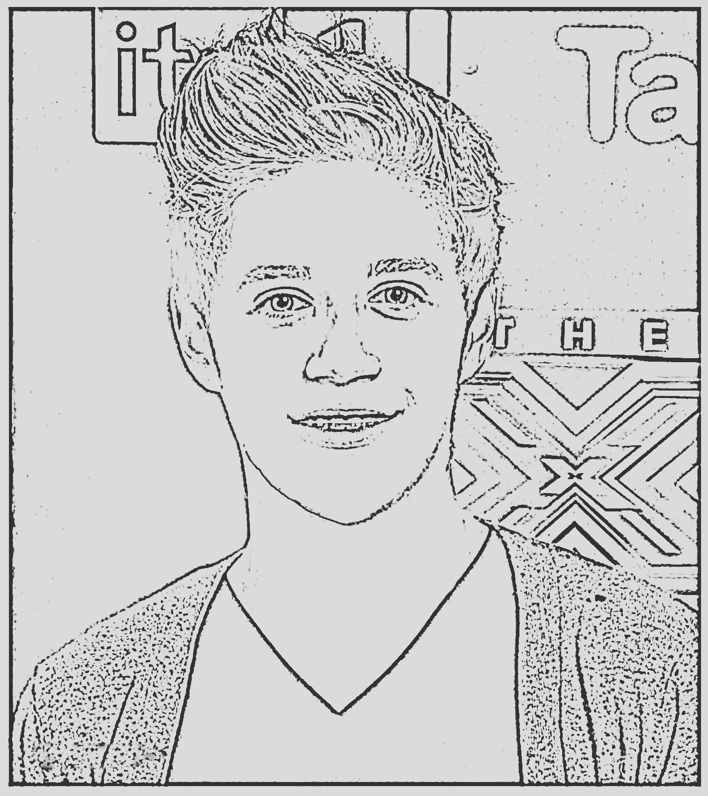 one direction coloring pages niall