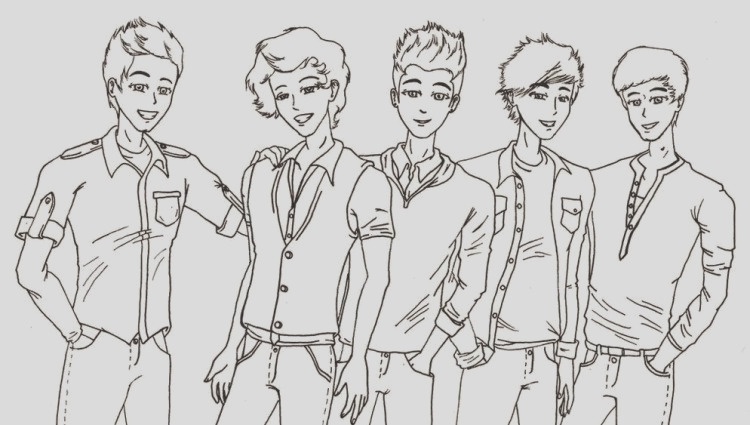 one direction coloring pages