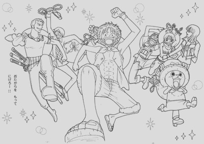 anime manga one piece coloring pages