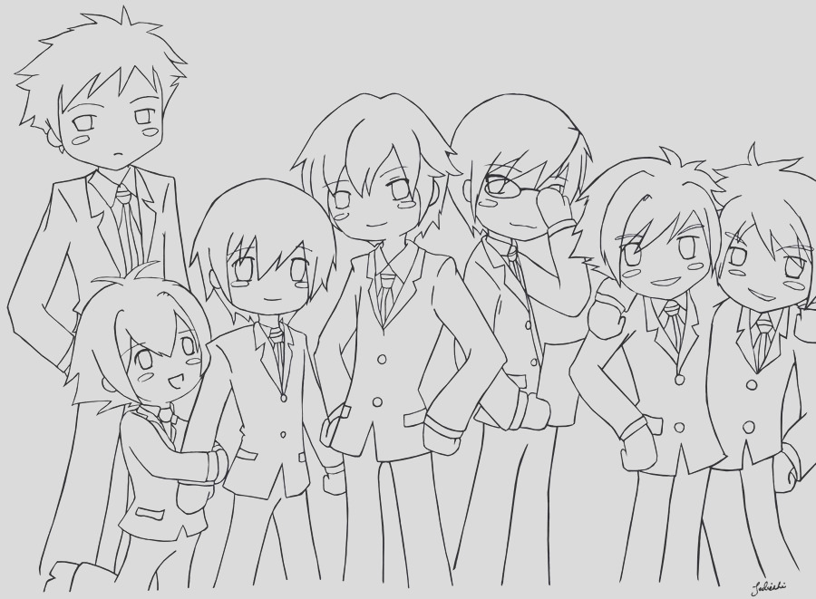 ouran highschool host club coloring pages