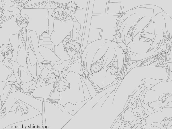 printable coloring pages of ouran high school host club sketch templates