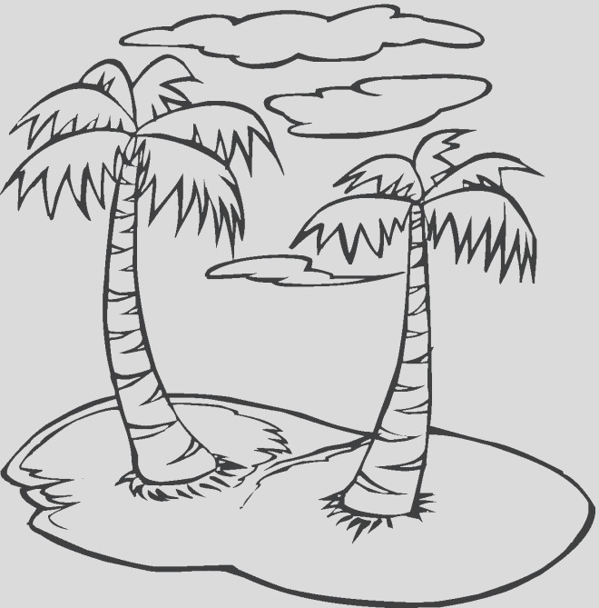 line drawing of a palm tree