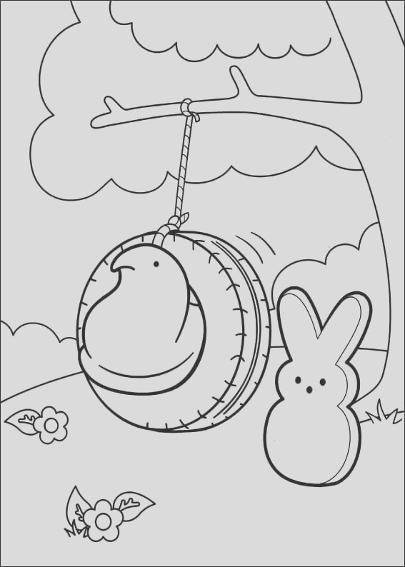 peeps coloring pages