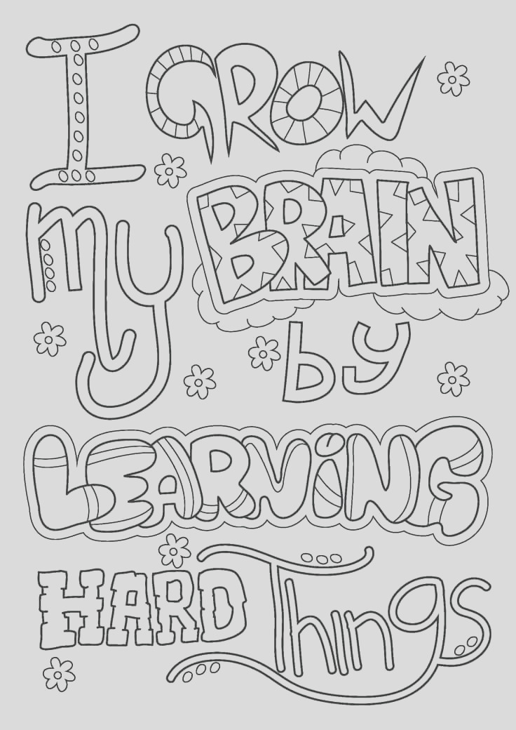 growth mindset coloring pages