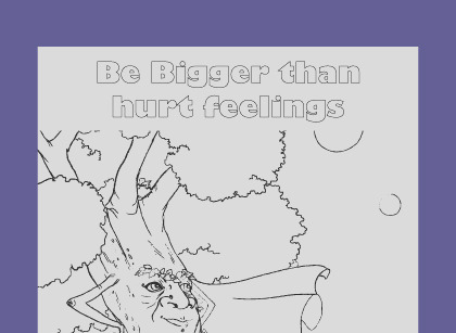 coloring page respect myself and others