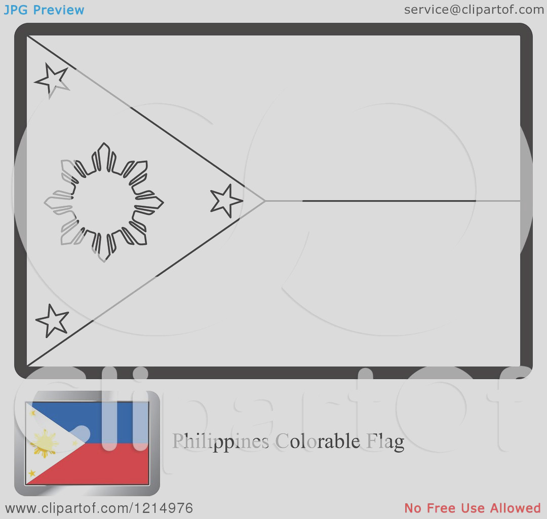 coloring page and sample for a philippines flag
