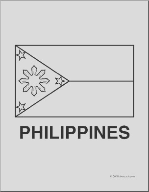clip art flags philippines coloring page