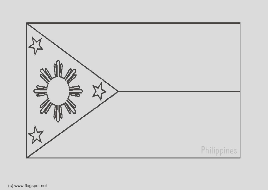 coloring page flag the philipines i6278