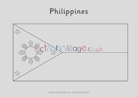 philippines flag colouring page