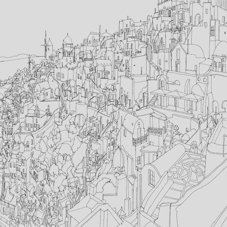 fantastic cities architectural coloring book for adults