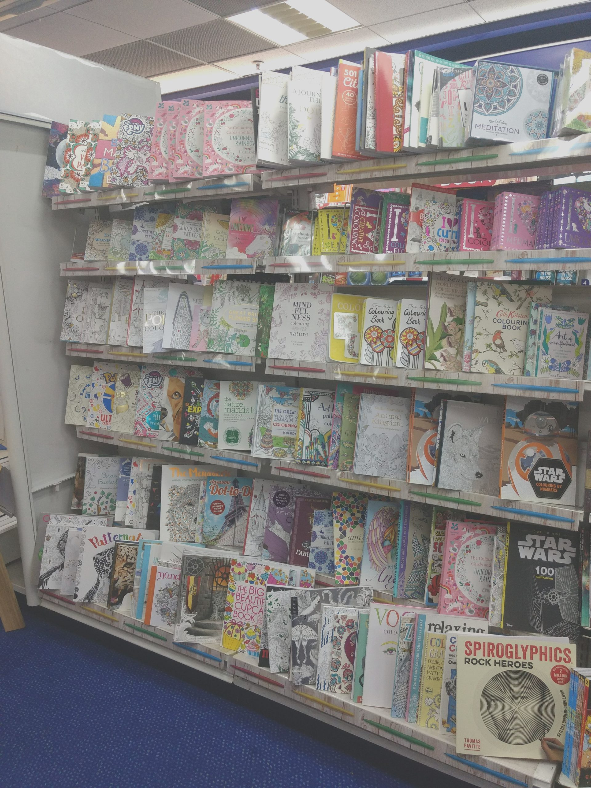 File Adult colouring books W H Smith Enfield