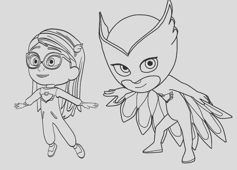 pj masks action coloring sticker pages