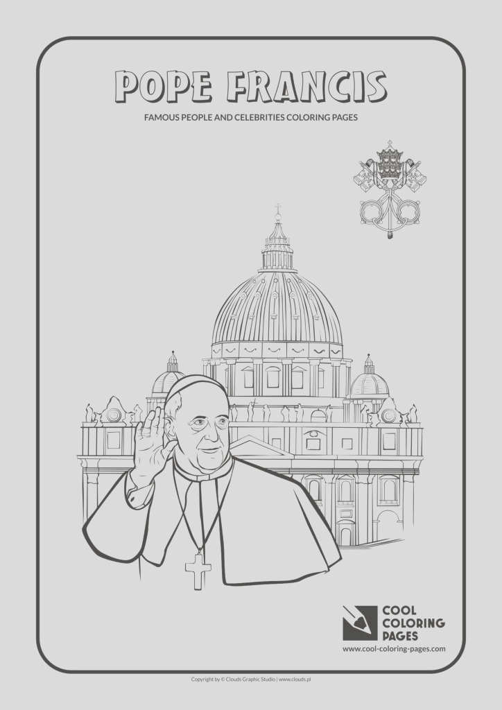 pope francis coloring pages no2