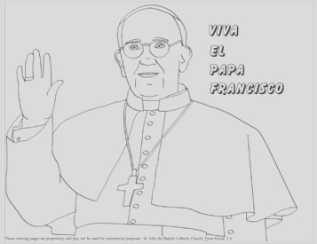 coloring pages of pope francis