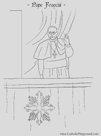 habemus papam a coloring page for pope francis i