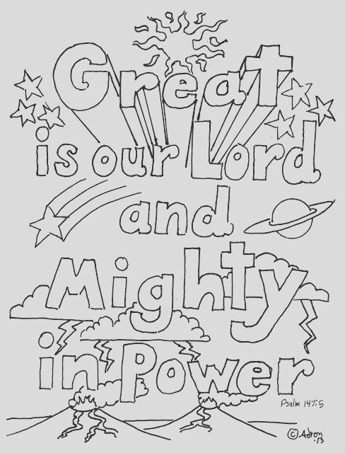great is our lord psalm 1475 print and