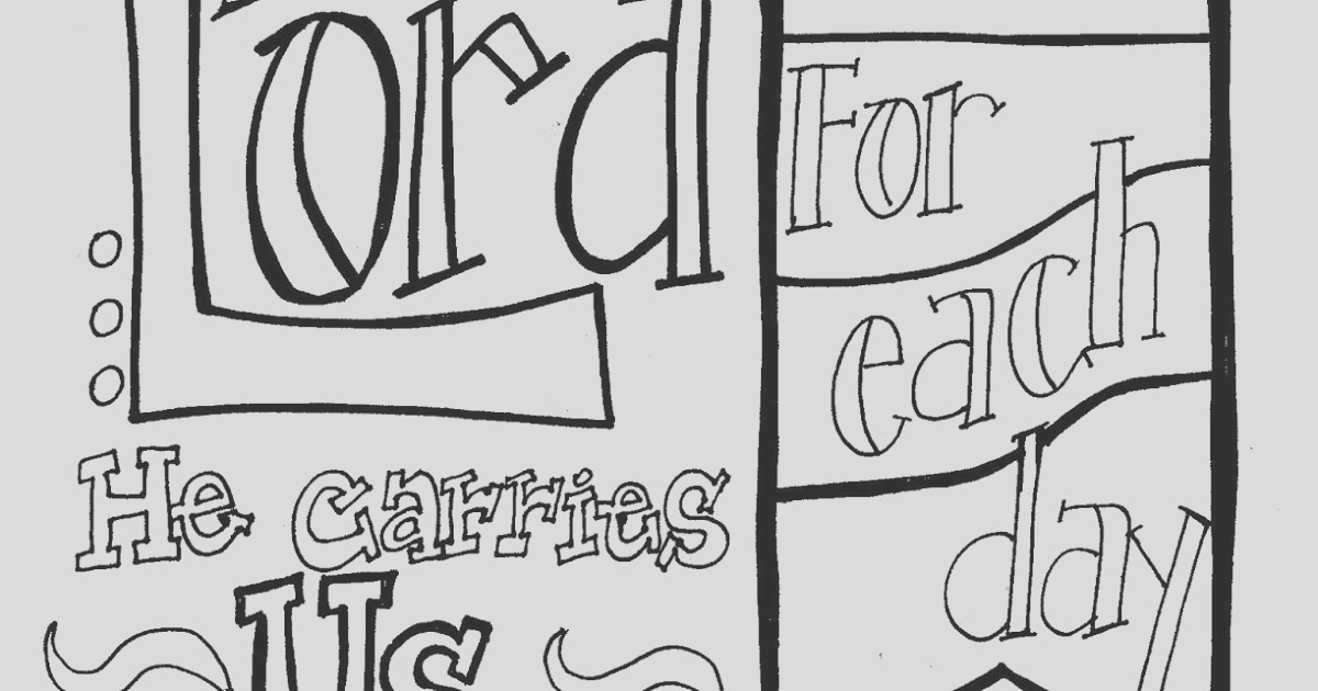 scripture coloring page praise lord