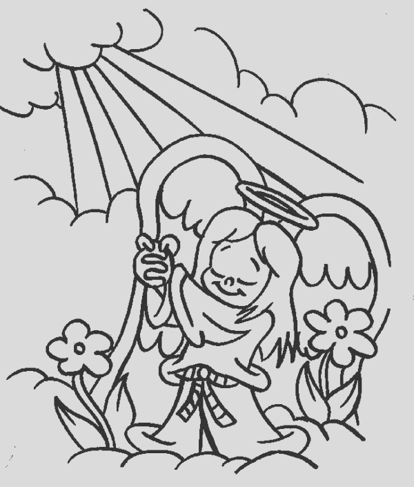 angels praise to the god lord coloring page 2