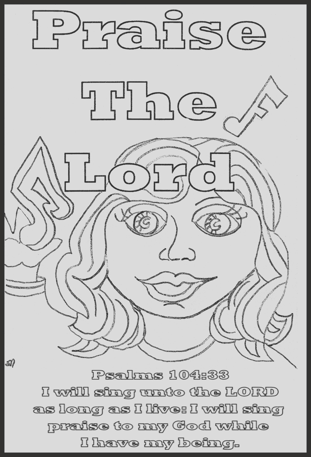 praise lord coloring sheets