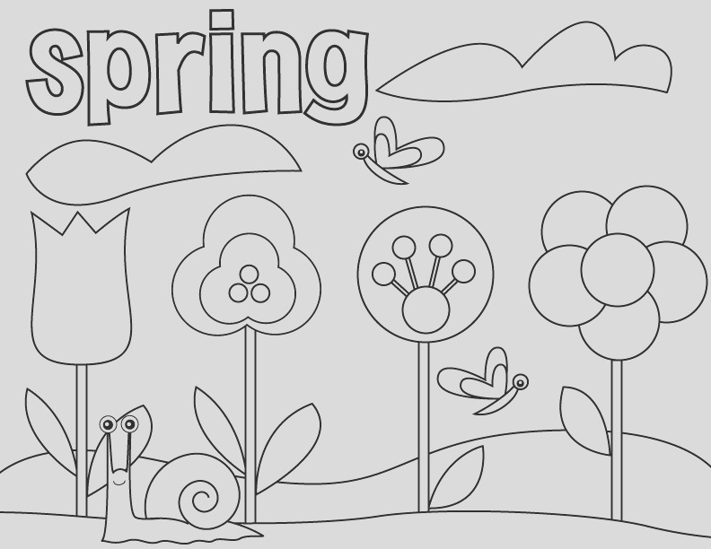 spring coloring pages for preschoolers 2013
