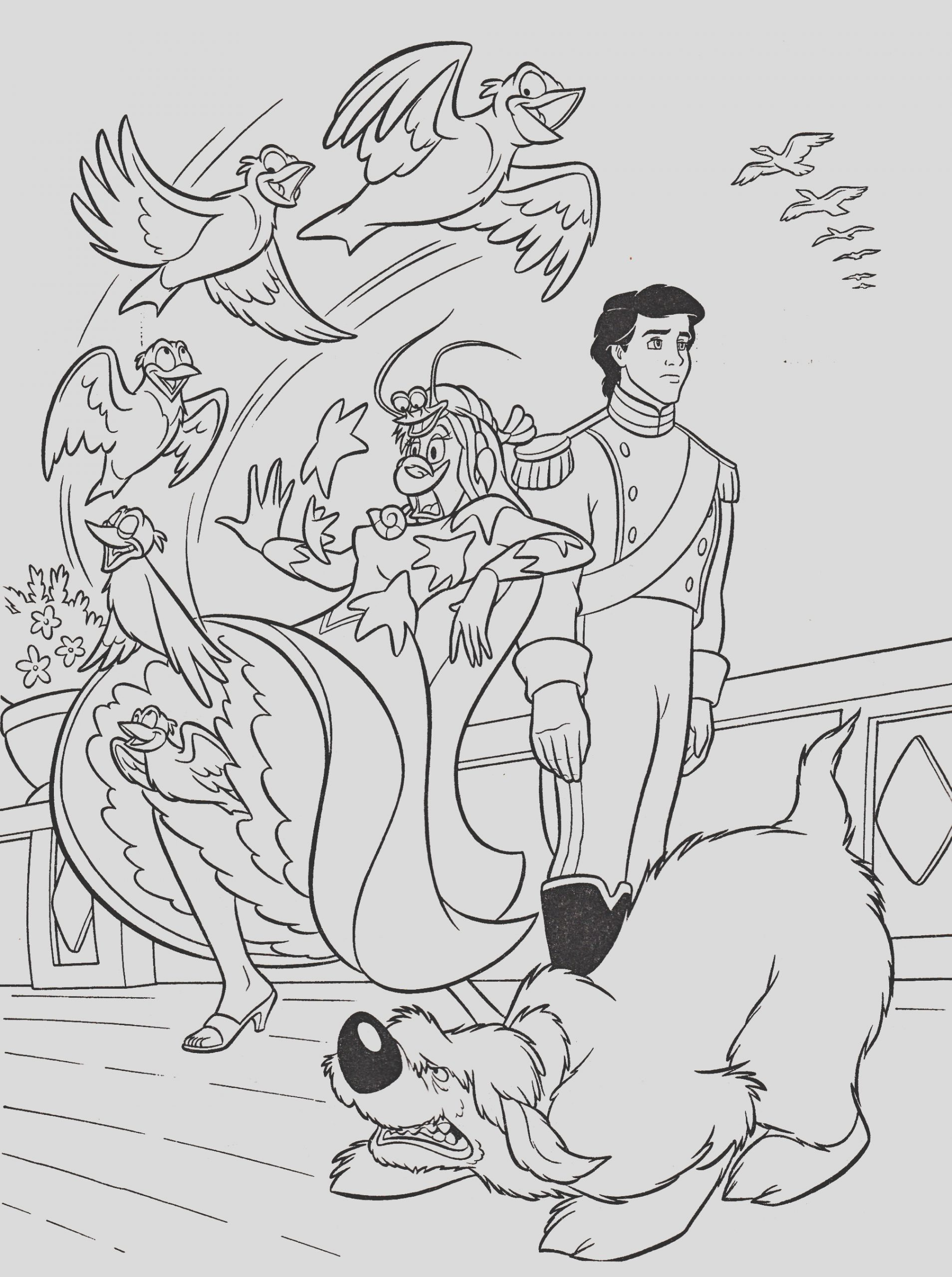 walt disney coloring pages vanessa prince eric max photo