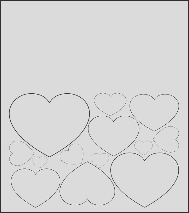 free printable valentines day card to color heart pattern