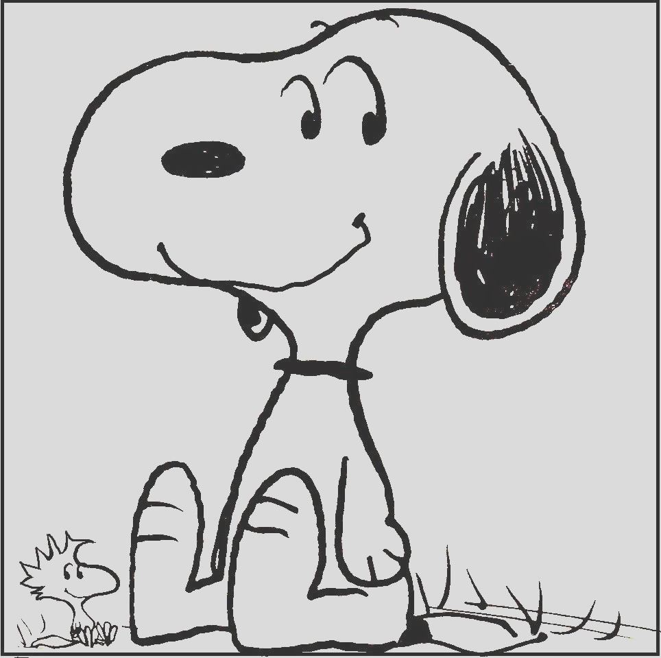 snoopy and woodstock coloring pages