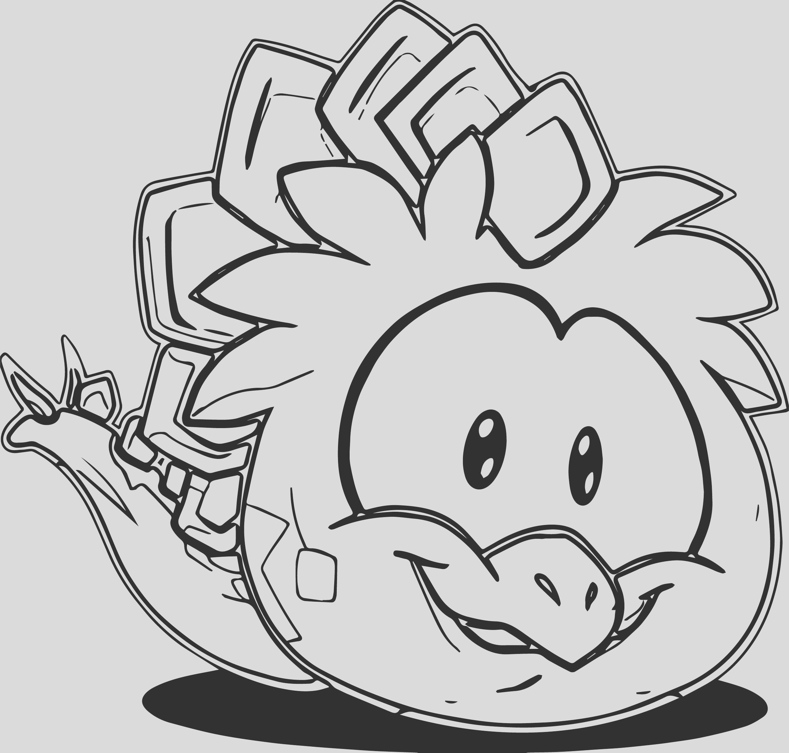 club penguin operation puffle coloring pages sketch templates