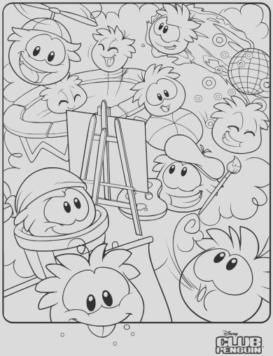 new puffle coloring page