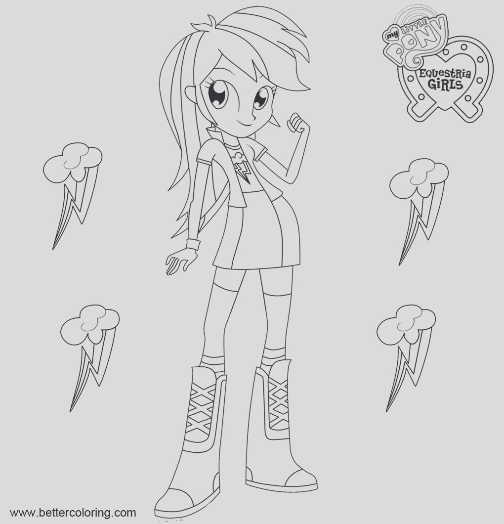 rainbow dash from equestria girls coloring pages