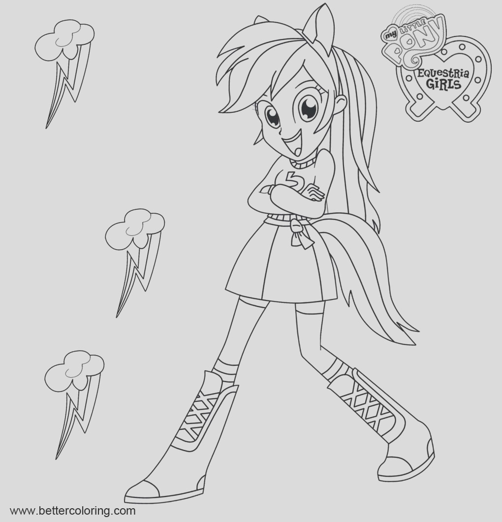 rainbow dash from my little pony equestria girls coloring pages