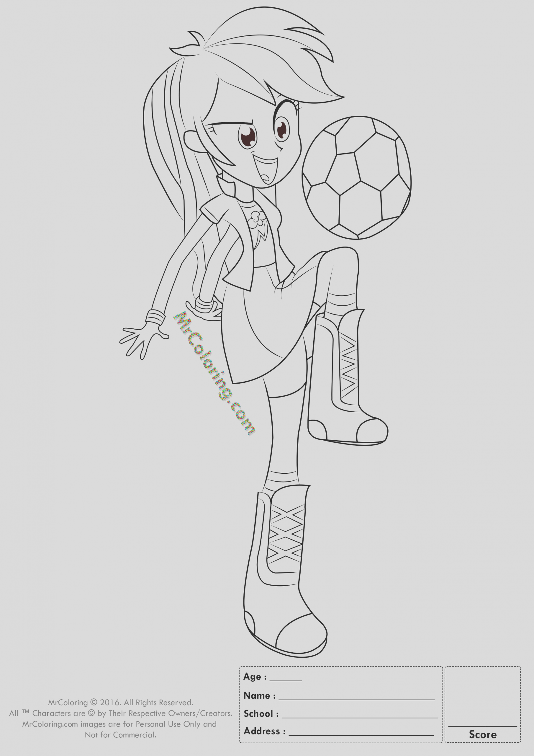 my little pony coloring pages rainbow dash equestria girls