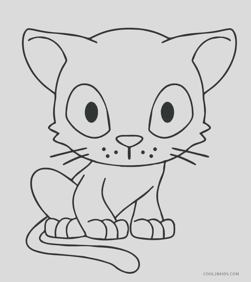 realistic cat coloring pages