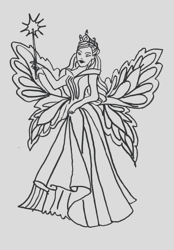 realistic fairy coloring pages