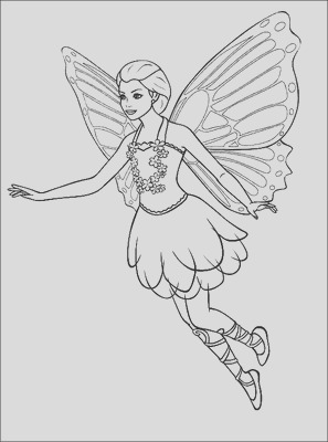 realistic fairy coloring sketch templates